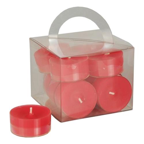 Värmeljus i Låda - 12-pack Röda