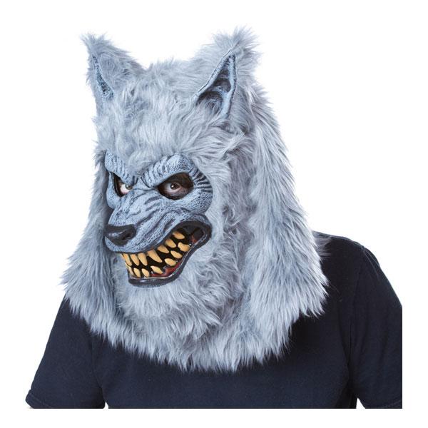 Varulv Grå Ani-Motion Mask - One size