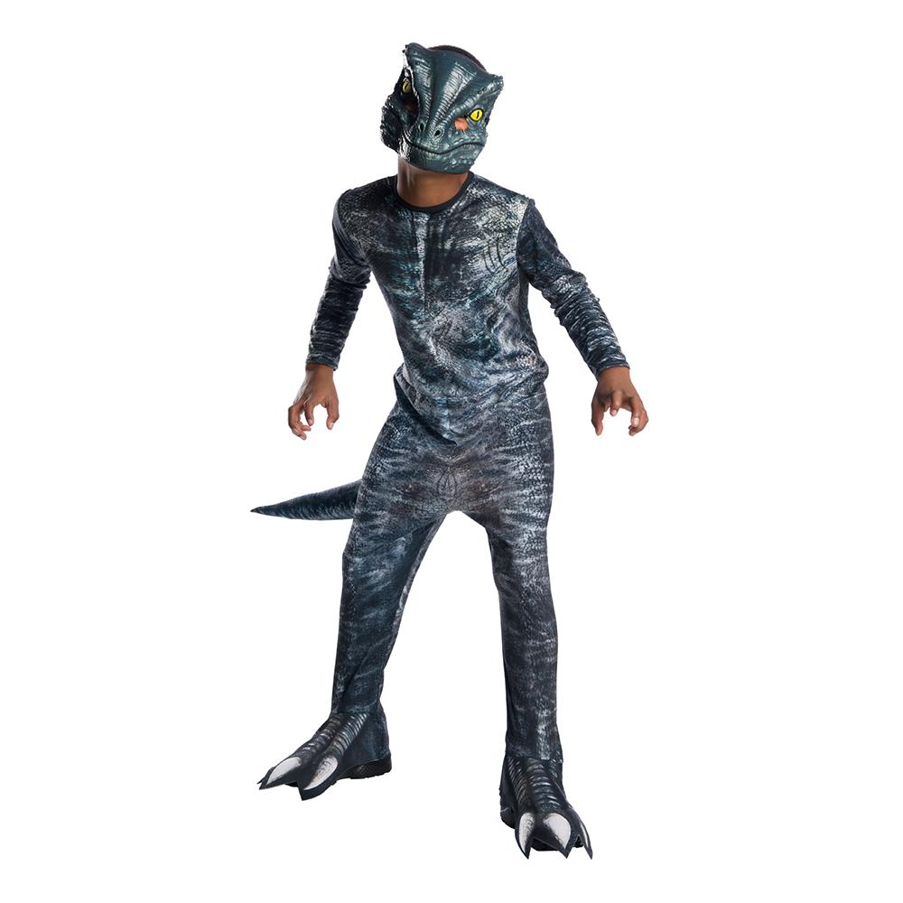 Velociraptor Blue Barn Maskeraddräkt - Small