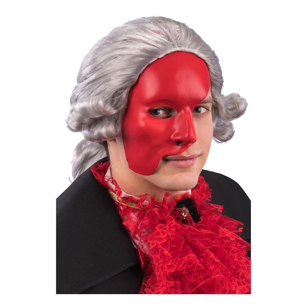 Venetiansk Halvmask Röd - One size