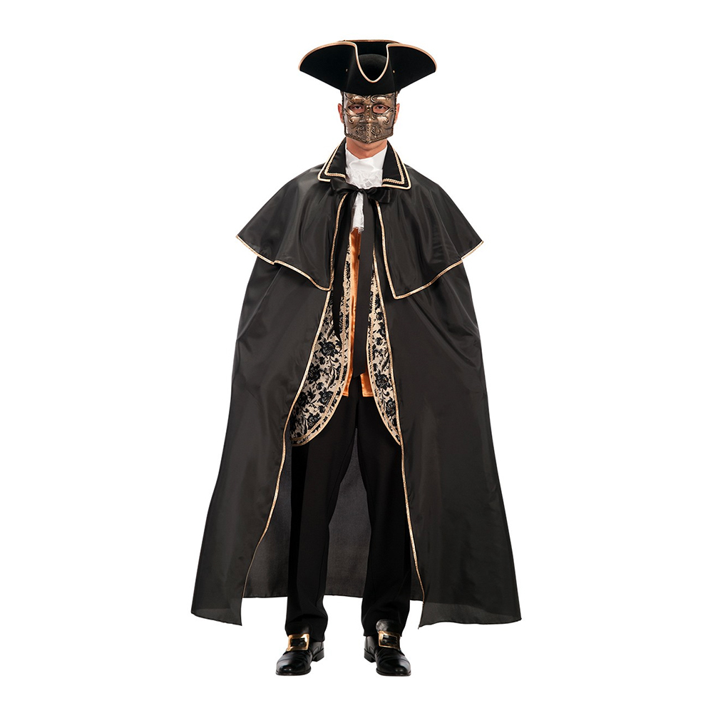 Venetiansk Mantel Svart - One size
