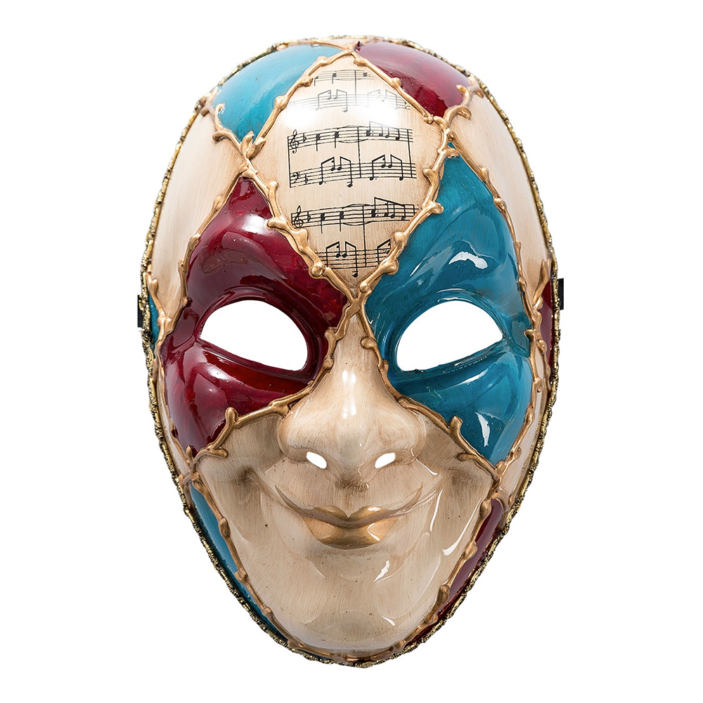 Venetiansk Mask Röd/Blå - One size
