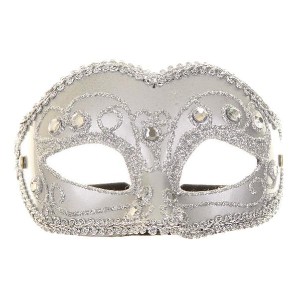 Venetiansk Silver Mask - One size