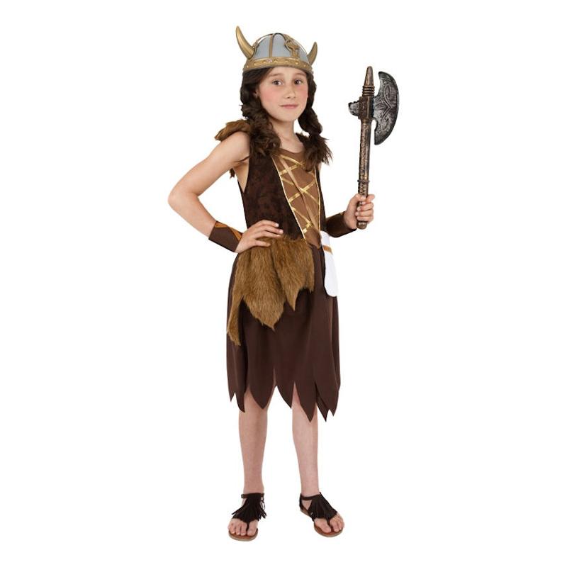 Vikingaflicka Barn Maskeraddräkt - Large