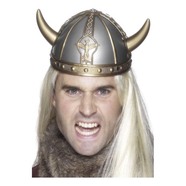Vikingahjälm med Horn - One size