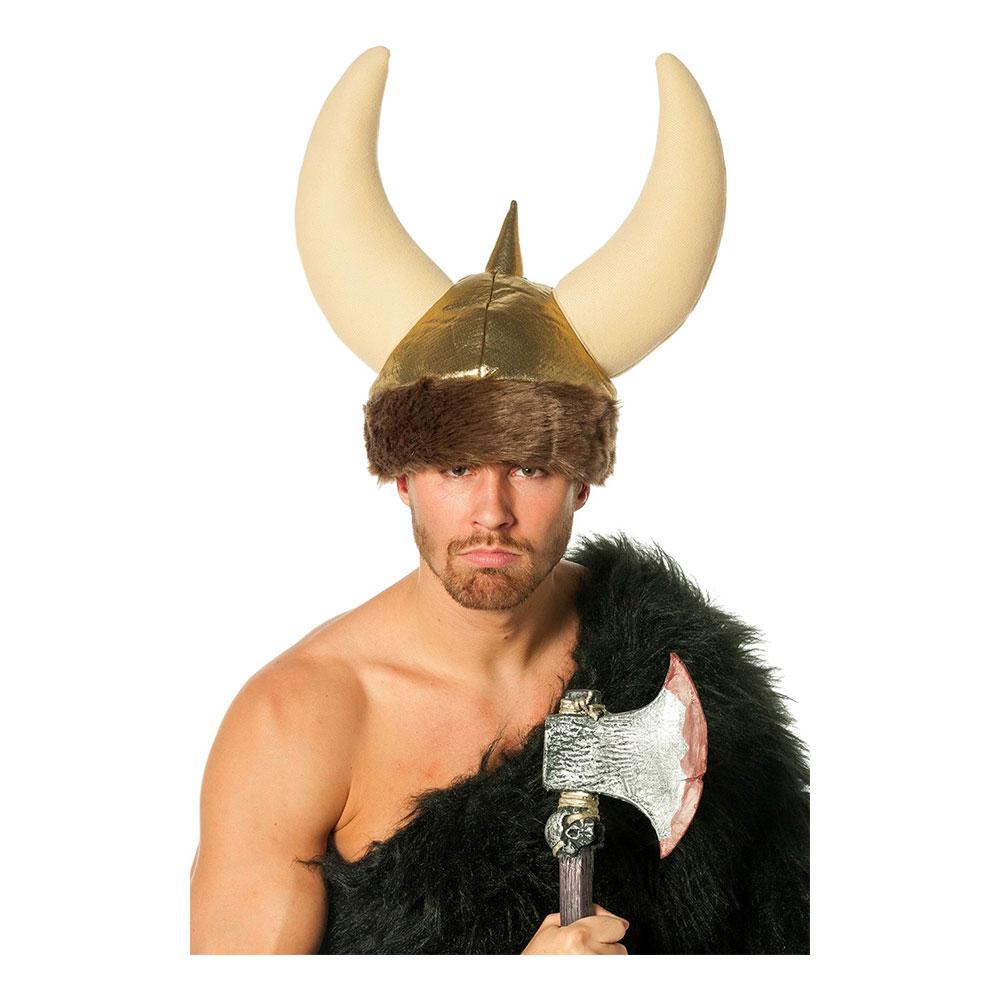 Vikingahjälm Mjuk med Horn - One size