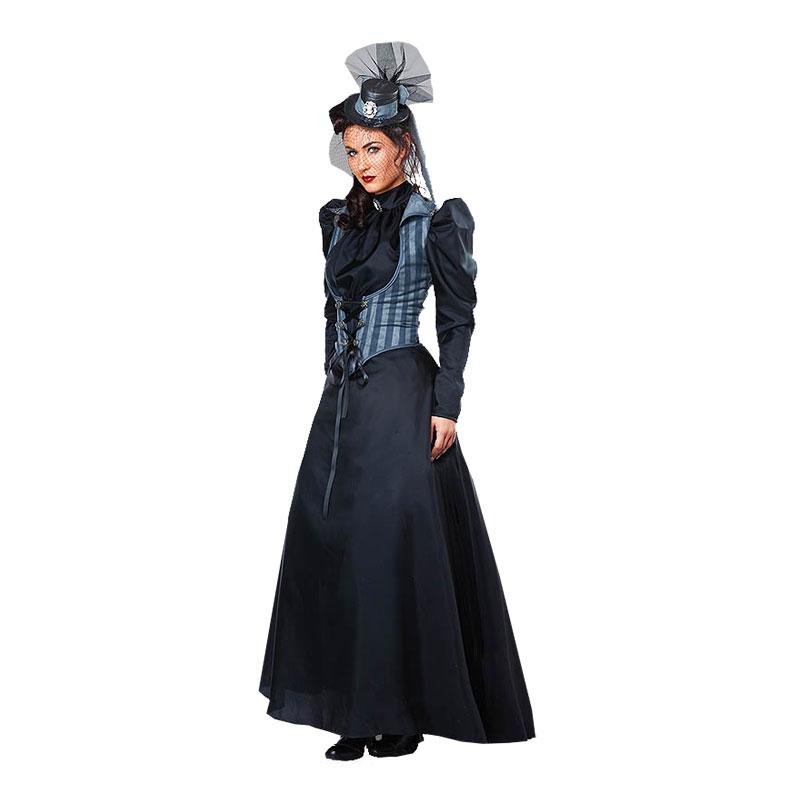 Viktoriansk Kvinna Maskeraddräkt - Small