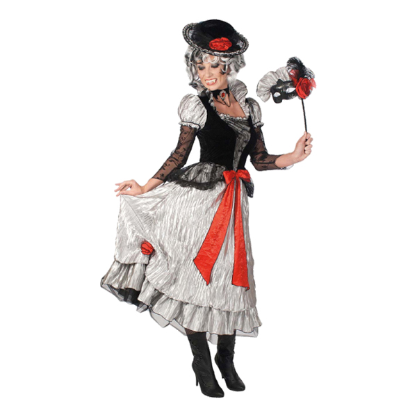 Viktoriansk Vampyra Maskeraddräkt - One size