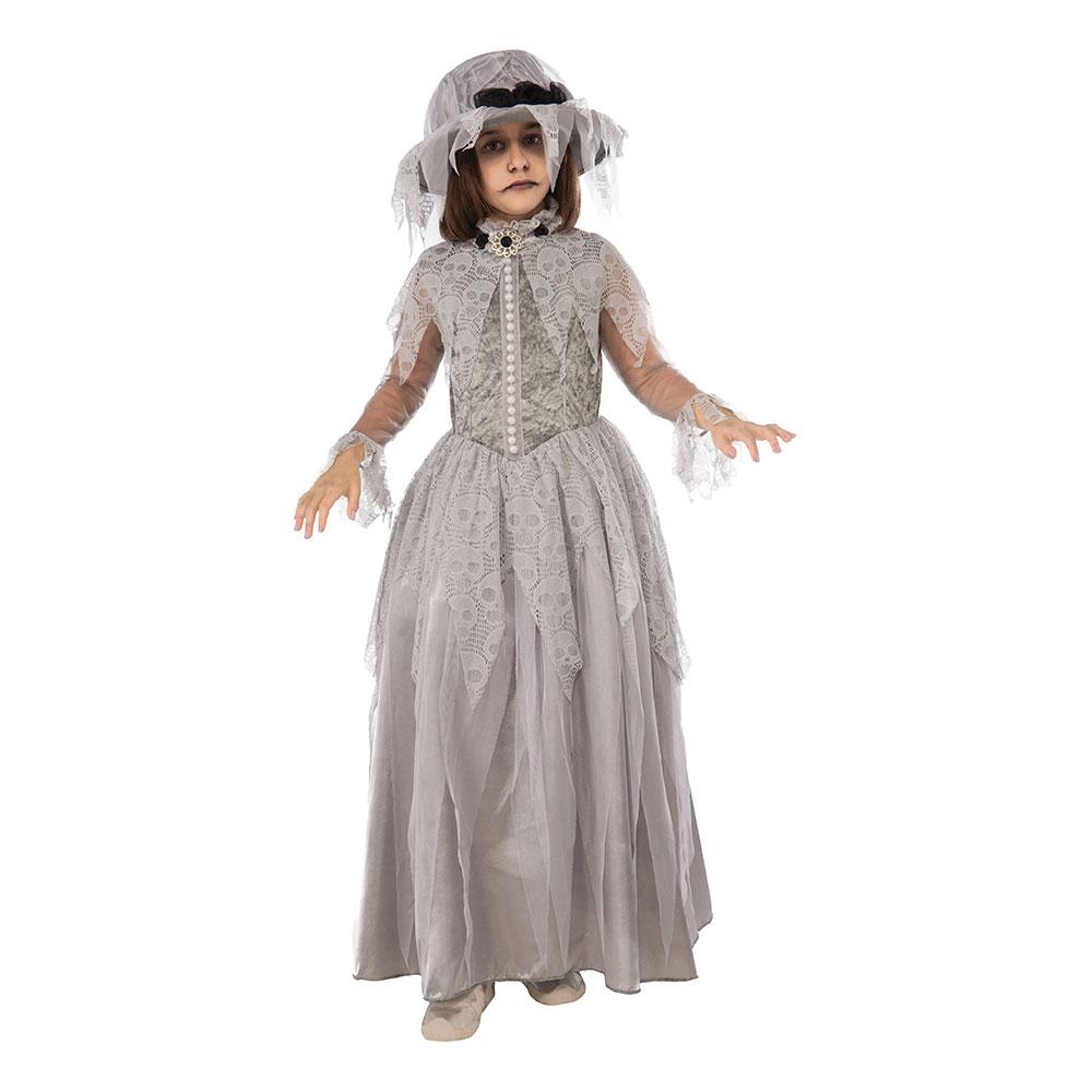 Viktorianskt Spöke Barn Maskeraddräkt - Medium