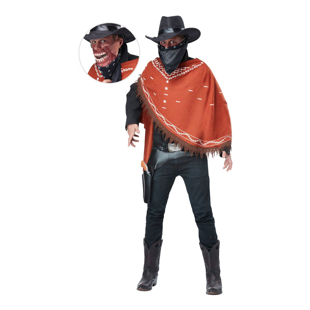 Zombie Vilda Västern Maskeraddräkt