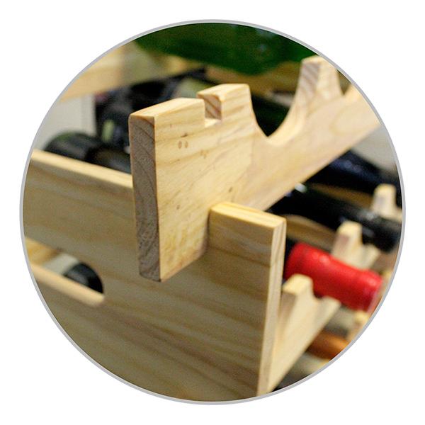 Vinställ Byggbart i Trä - 2-Pack Väggar
