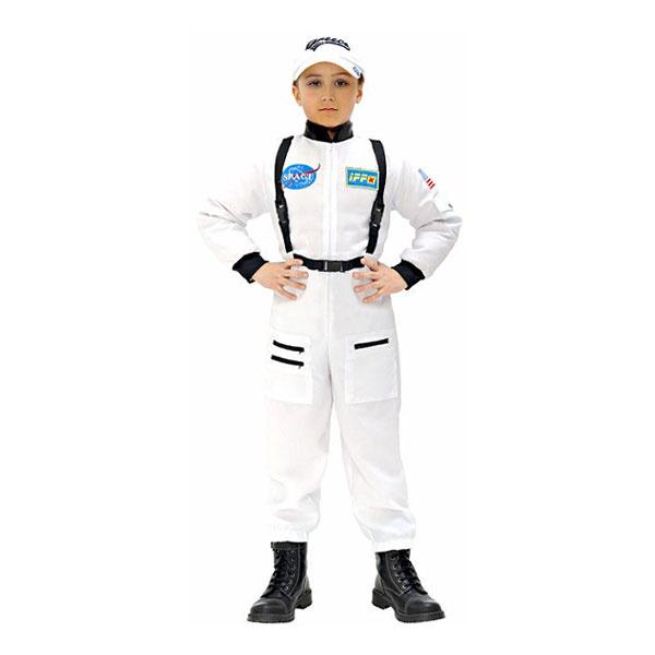 Vit Astronaut Barn Maskeraddräkt - Small