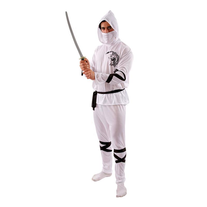 Vit Ninja Maskeraddräkt - Standard