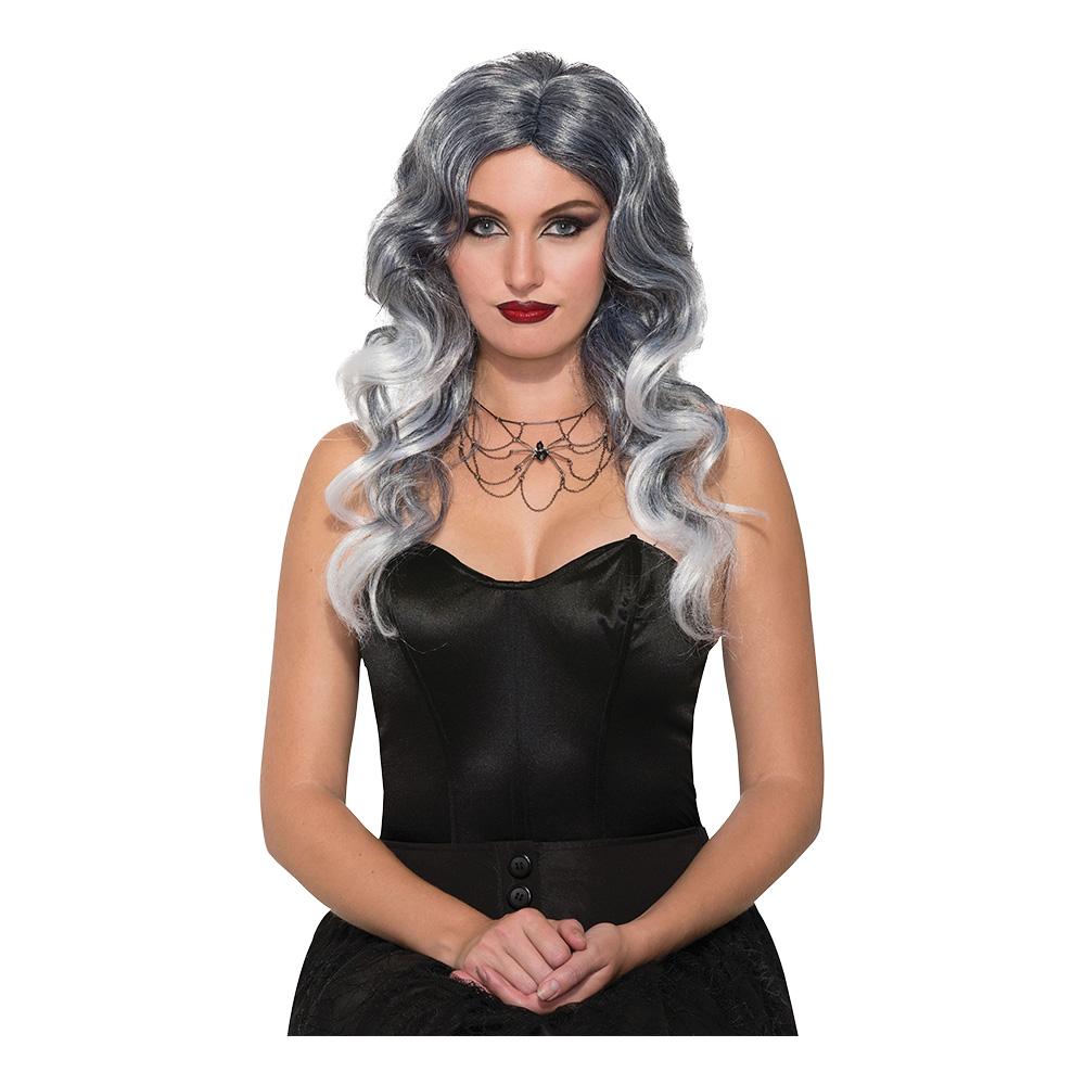 Häxa Peruk Grå och Silver - One size