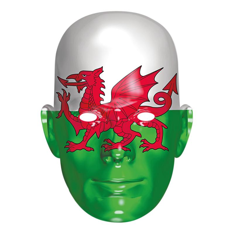 Wales Flagga Pappmask
