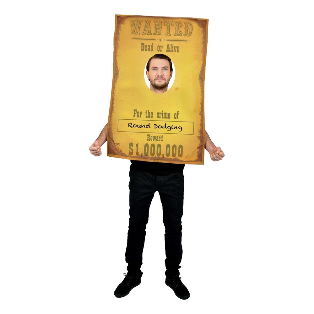 Wanted Cowboy Maskeraddräkt - One size