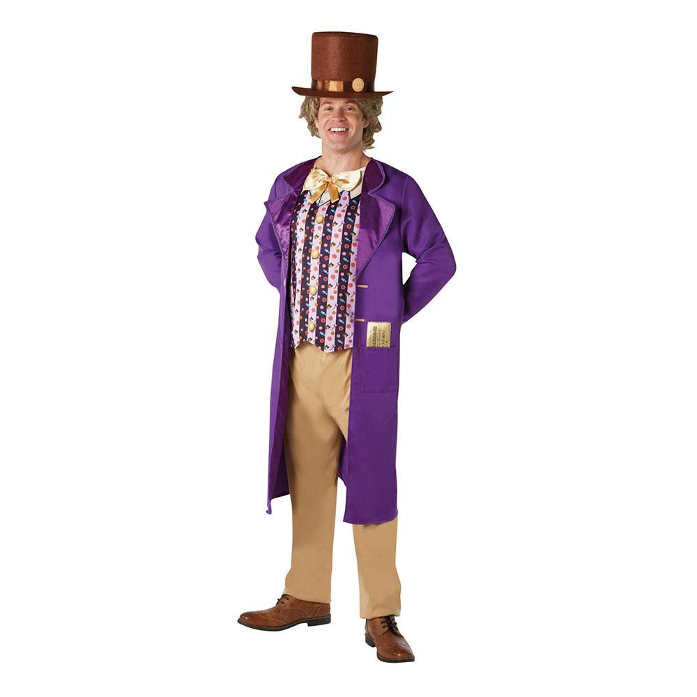 Willy Wonka Klassisk Maskeraddräkt - Standard