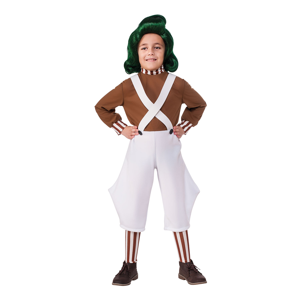 Willy Wonka Oompa Loompa Barn Maskeraddräkt - Small