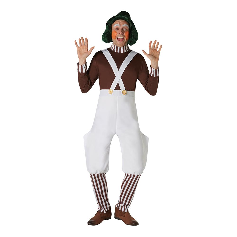 Willy Wonka Oompa Loompa Maskeraddräkt - Small