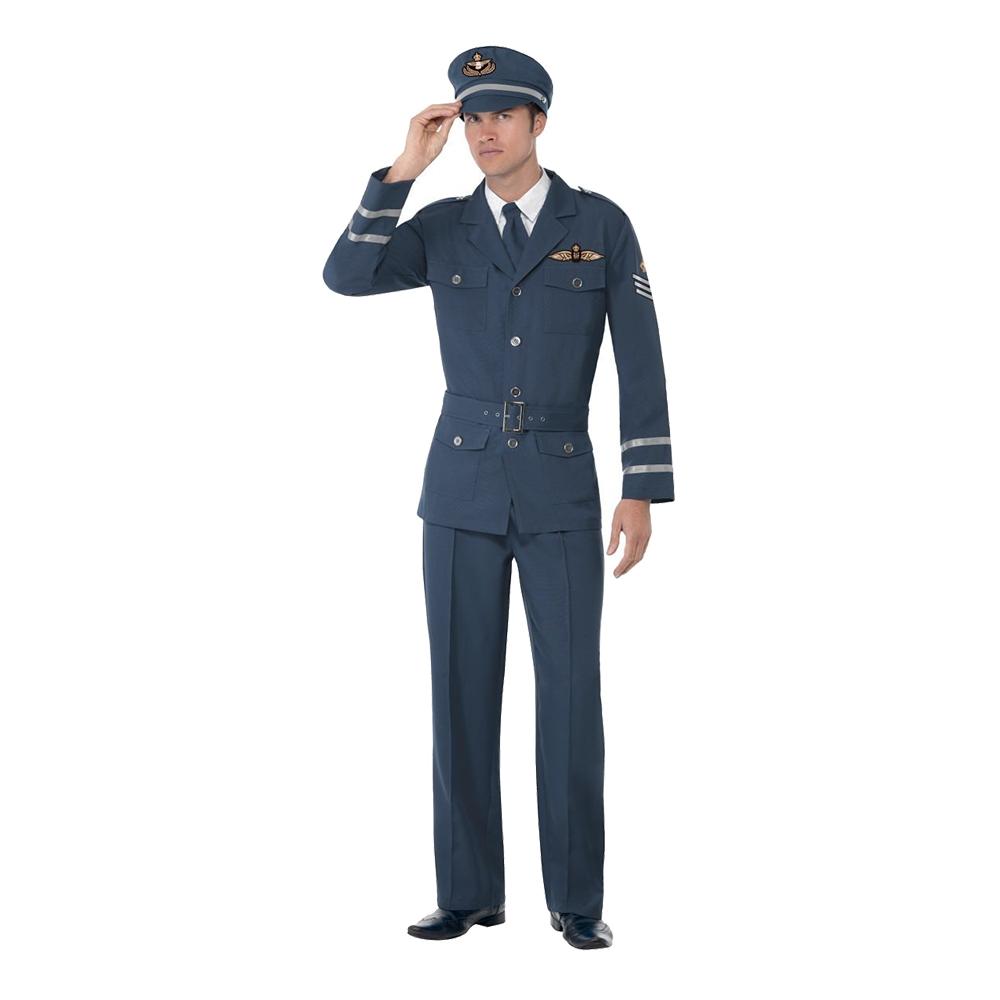WW2 Flygkapten Maskeraddräkt - Medium