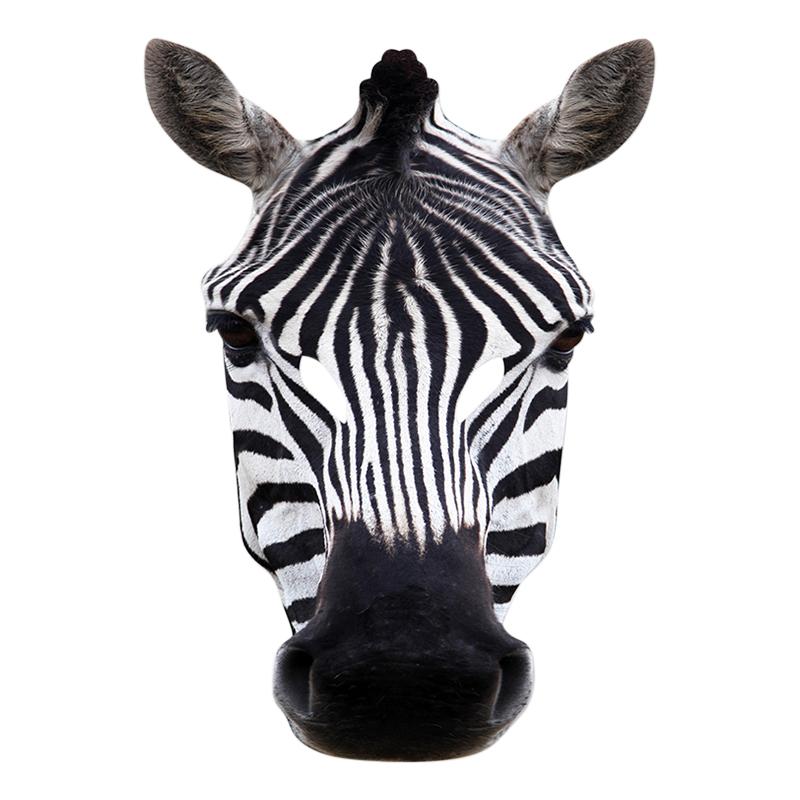 Pappmasker - Zebra Pappmask