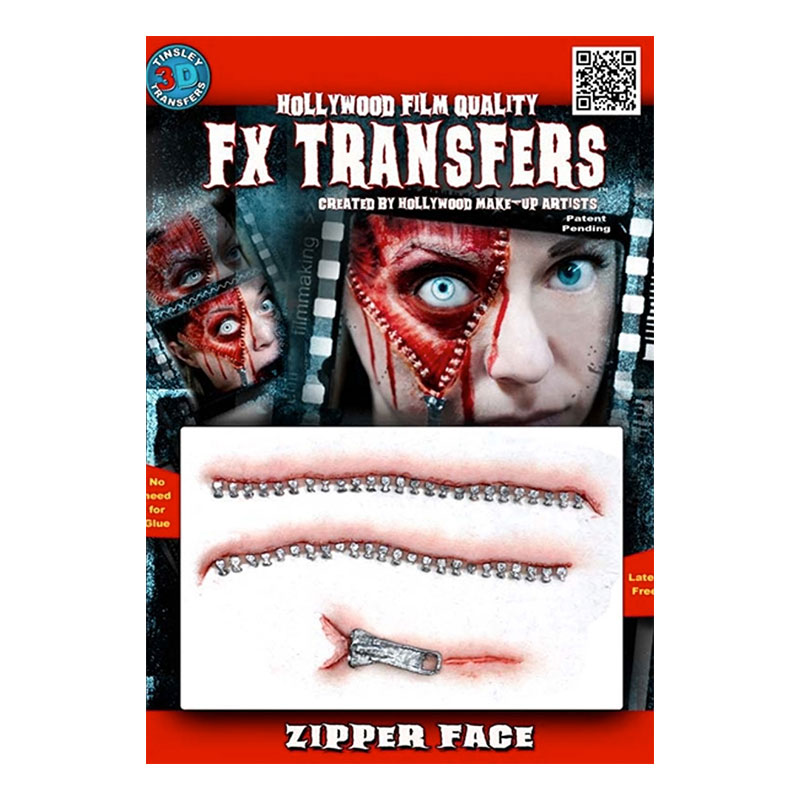 Zipper Face FX Transfers