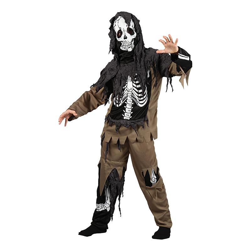 Zombieskelett Barn Maskeraddräkt - Medium