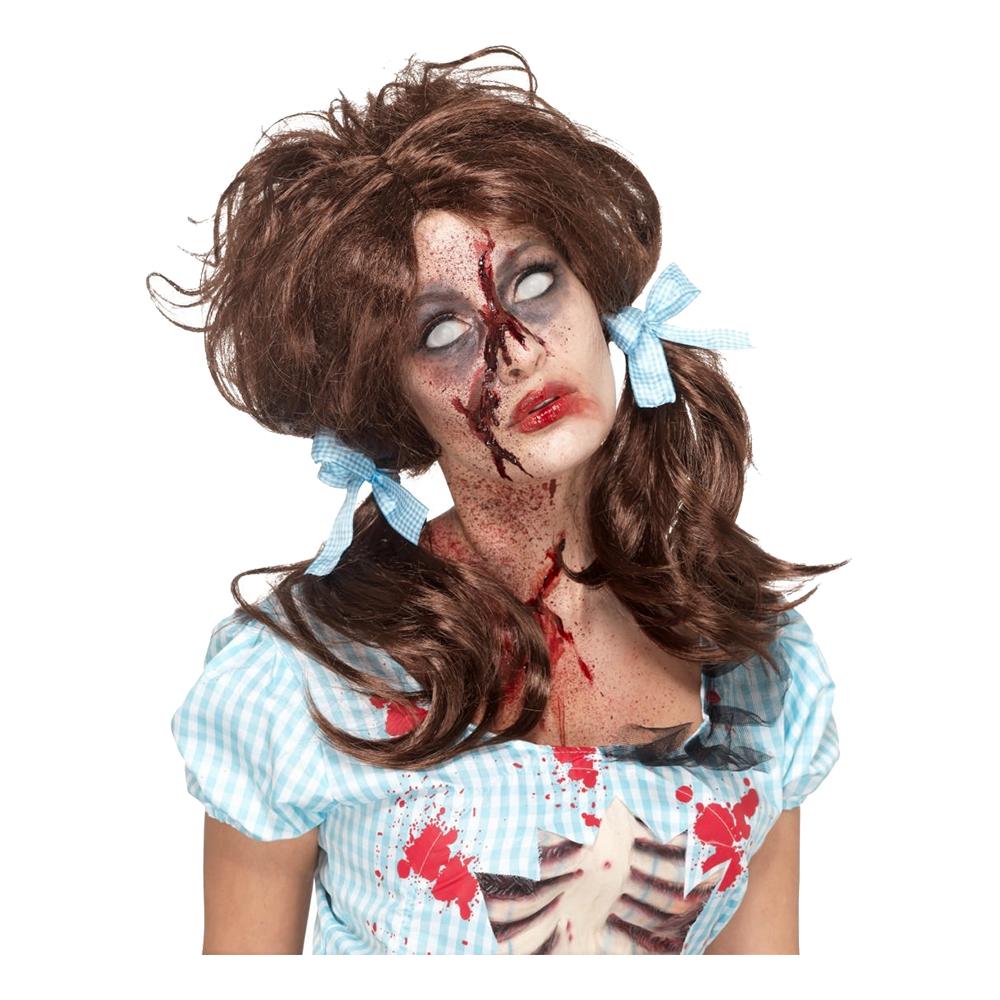 Zombie Countrytjej Brun Peruk - One size