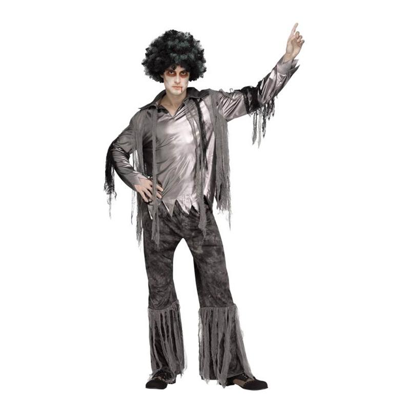 Zombie Disco Man Maskeraddräkt - One Size