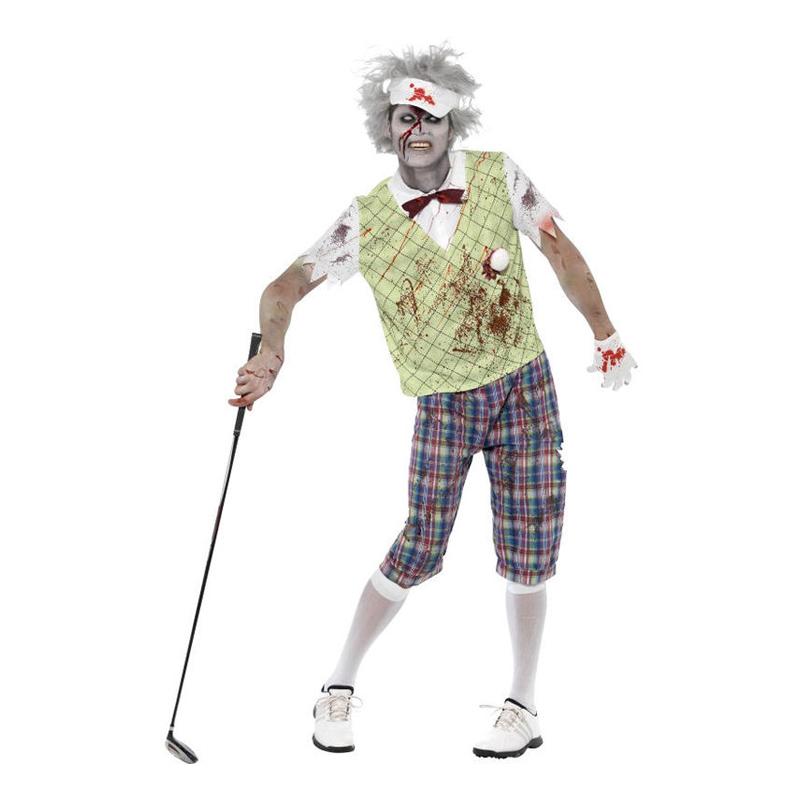 Zombie Golfare Maskeraddräkt - Large
