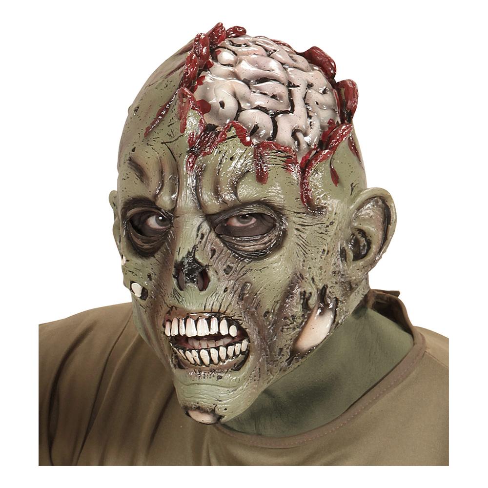 Zombie med Blottande Hjärna Mask - One size