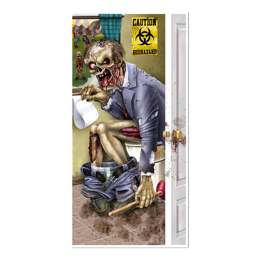 Zombie på Toaletten Dörrposter