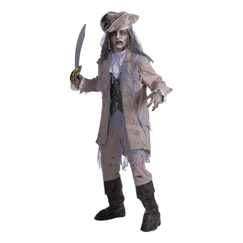 Zombie Pirat Man Maskeraddräkt - One size