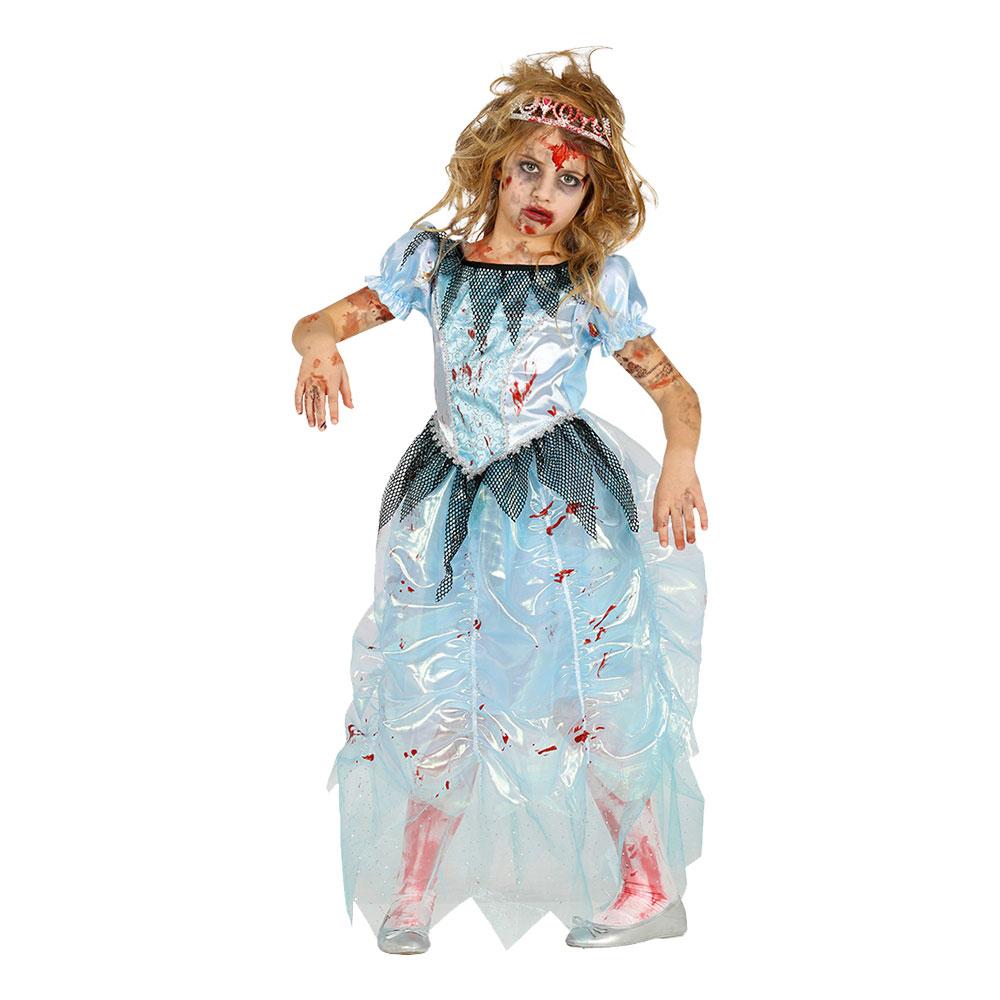 Zombie Prinsessa Barn Maskeraddräkt - Small