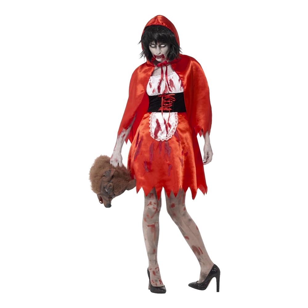 Zombie Rödluvan Maskeraddräkt - X-Small