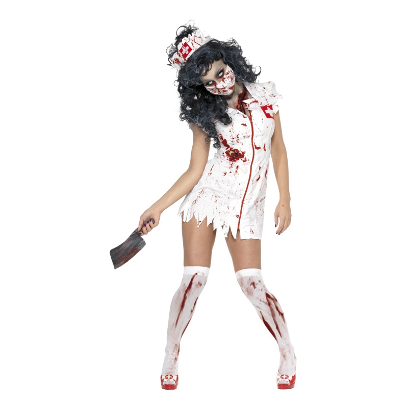 Zombie Sjuksköterska Maskeraddräkt - Small