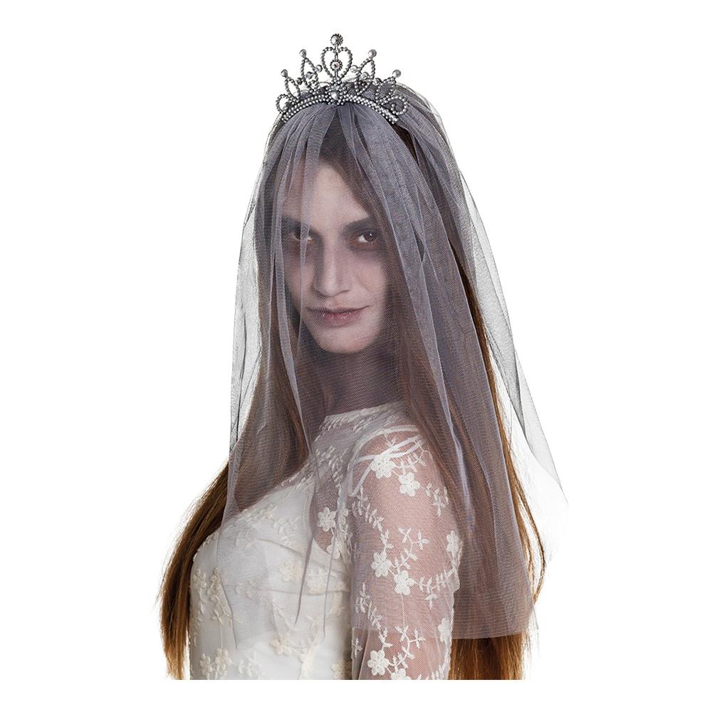Spöke Krona med Slöja - One size
