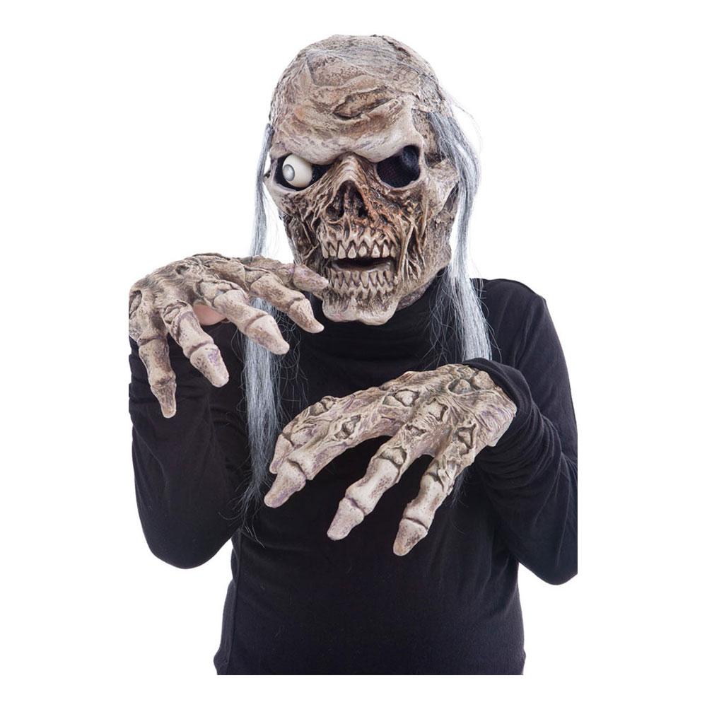 Zombiemask med Ljud & Händer - One size