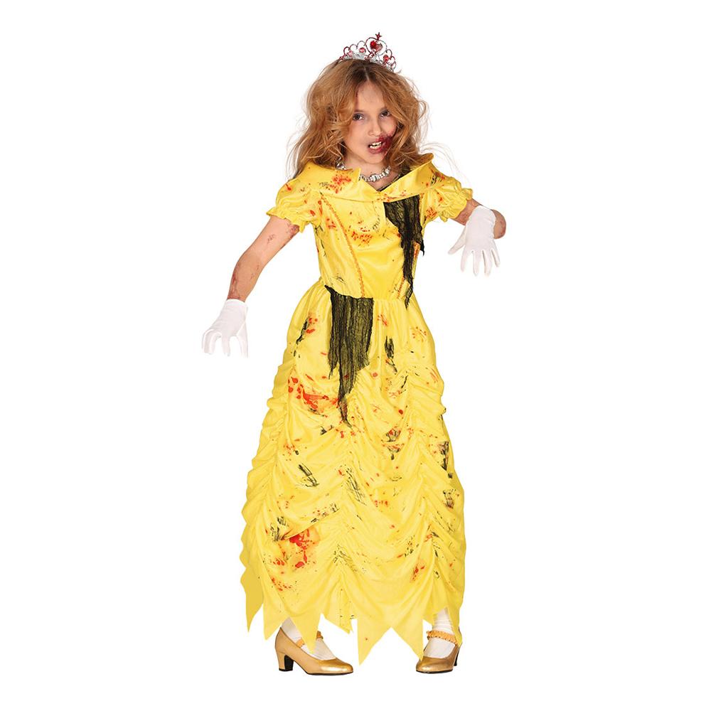 Zombieprinsessa Gul Barn Maskeraddräkt - Small