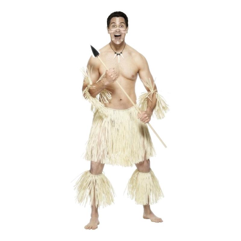 Zulu Krigare Maskeraddräkt - One size
