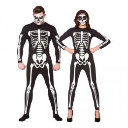 Jumpsuit Skelett Maskeraddräkt 811a31160b458