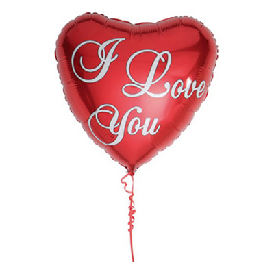 Folieballong i love you 1
