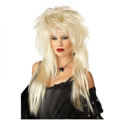 Glamrockare Blond Peruk